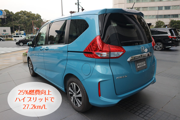 新型フリードは25%燃費向上で27.2km/Lに!